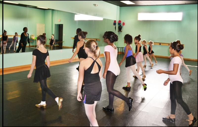 Home schoolers enjoy daytime dance classes at The Dance Element studio.