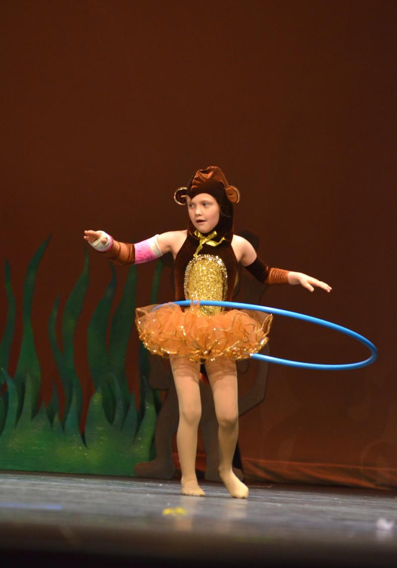 Kids love hula hoop dance at The dance Element studio in Wilmington NC