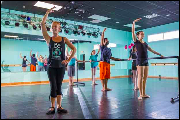 Adults enjoy learning to dance at The Dance Element studio in Wilmington NC