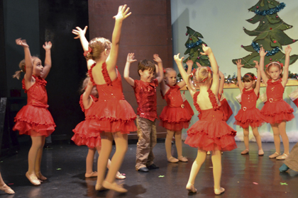 Young dancers learn important concepts like direction, while learning to dance.