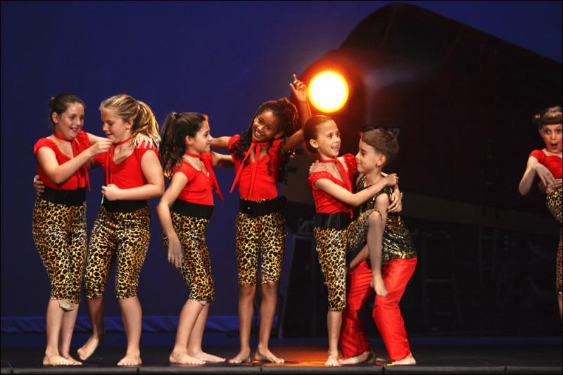7 Year old dance students demonstrate thier progress in a Wilmington NC showcase