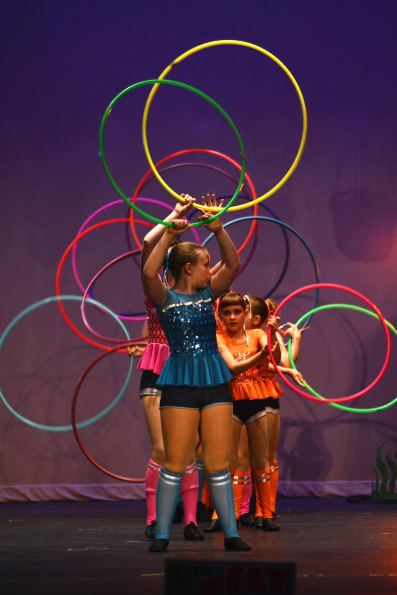 Hoop dance is one of the most popular weekly dance classes at The Dance Element