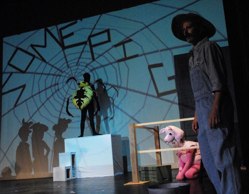 Ashley Barnes premiered an original adaptation of Charlotte's Web in Wilmington.