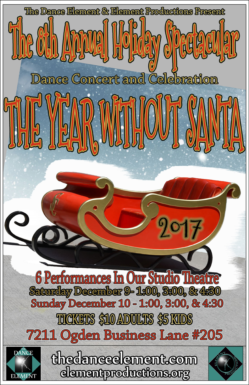 The Dance Element's Holiday Dance Concert in Wilmington NC, December 9-10,2017