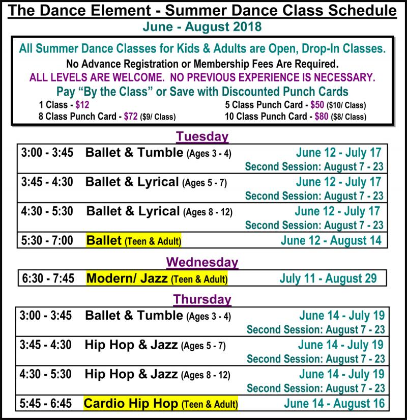 Summer Ballet, Hip Hop, & Dance Classes for Adults in Wilmington NC
