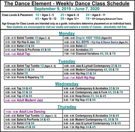 Ballet, Hip Hop, & Dance Classes for Children & Adults in Wilmington NC